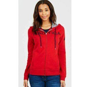 Nautica Women's Full Zip Hoodie Sweatshirt Jacket